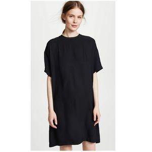 VINCE ribbed-trim T-shirt dress